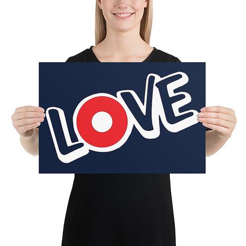 "Love Donut 12""x18"" Poster | Giclée Print"