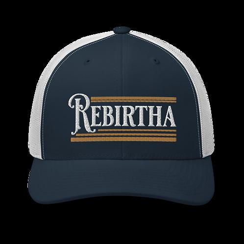Rebirtha Retro Trucker Cap | Flat Embroidery | Inspired WP Art Cap