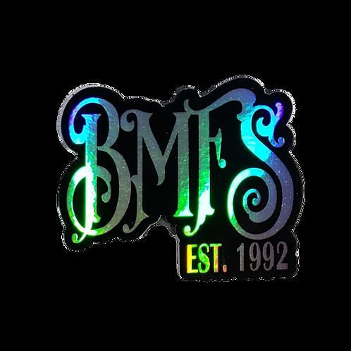 "BMFS Est. 1992  Holographic Sticker  3""x2.5""   Billy 33 Slap"