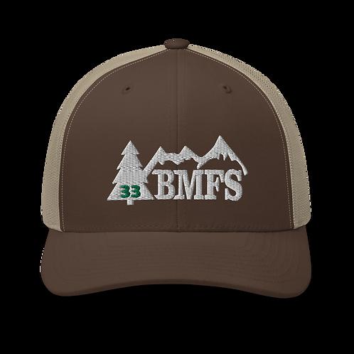 BMFS 33 Tree Trucker Cap | Flat Embroidery | Inspired Strings Art Cap