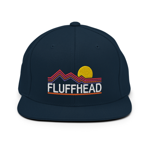 Fluffhead Classic Flat Snapback Hat with Green Undervisor | Yupoong