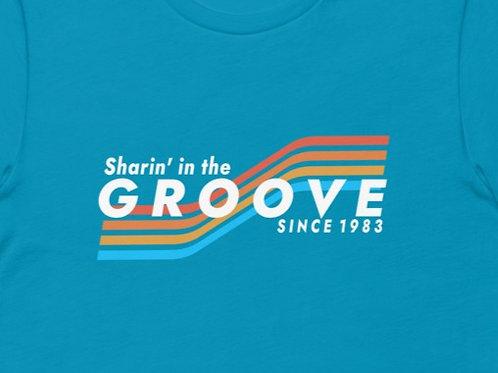 Sharin' In The Groove   Bella + Canvas Premium cotton   Short Sleeve