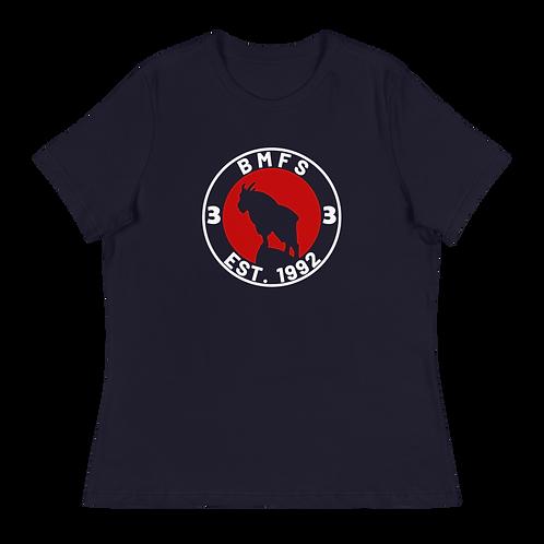 BMFS Goat 33 Women's Relaxed T-Shirt   Bella + Canvas 6400