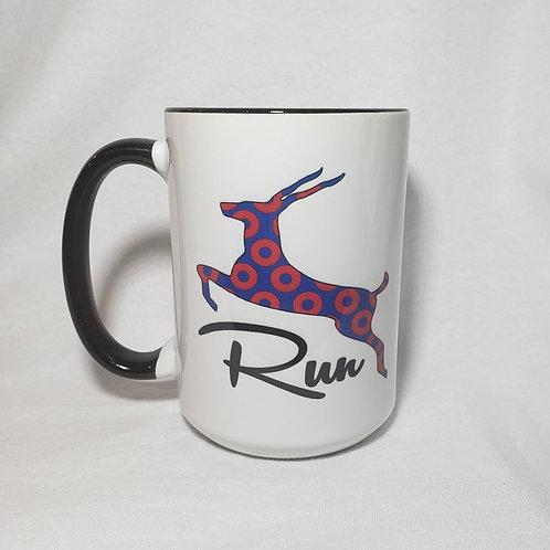 15oz Ceramic Antelope Run Red Donut Coffee Mug