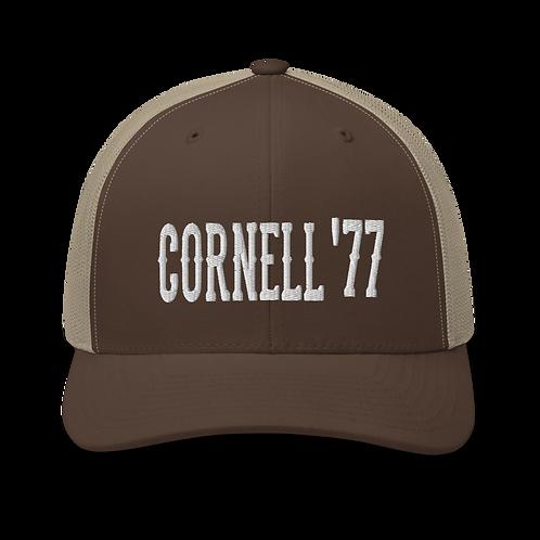 Cornell 1977 Trucker Cap   Flat Embroidery   Inspired Dead Art Cap   Lot Style