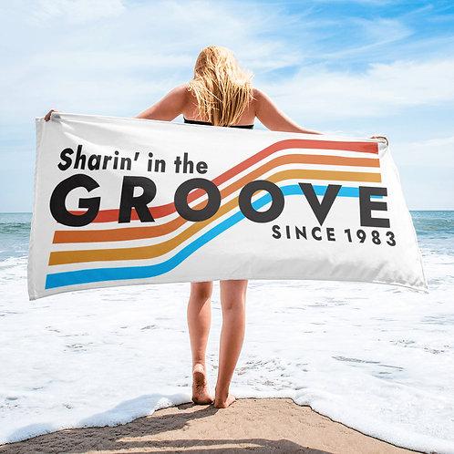 "Sharin' In The Groove Beach Towel | 30""x60"" | Sublimation | Phan Art"