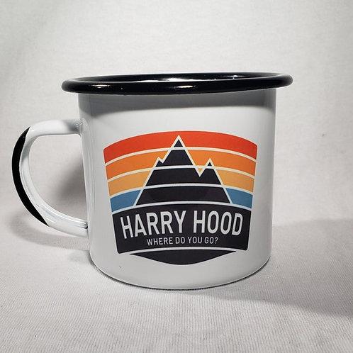12oz Enamel Harry Hood Camping Mug