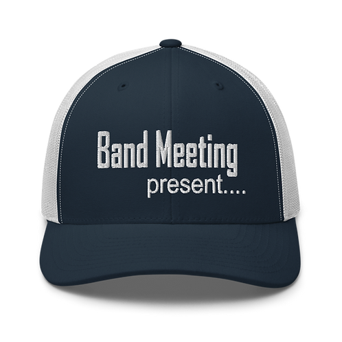 Band Meeting Present Trucker Cap | Flat Embroidery | FOTC Inspired Art