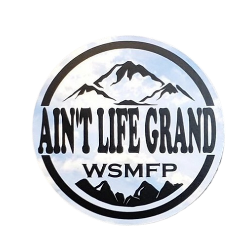 """Ain't Life Grand Sky Mountains Sticker 3""""Rounds Sticker In/Outdoor"""