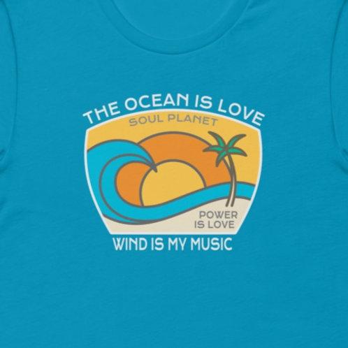 The Ocean Is Love    Bella + Canvas Premium cotton   Short Sleeve
