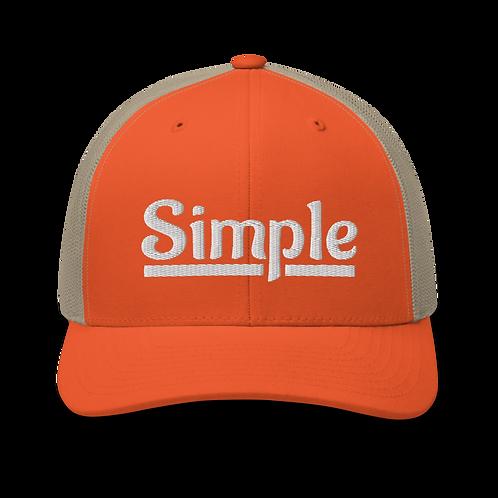 Simple Trucker Snapback Cap   Flat Embroidery   Inspired Phan Art Cap