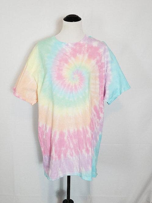 Saltwater Taffy Pastel Spiral T-Shirt | Hand Dyed Tie Dye Shirt