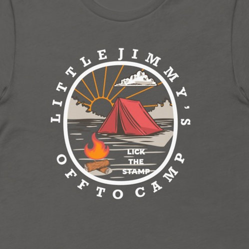 Little Jimmy's Off To Camp    Bella + Canvas Premium cotton   Short Sleeve