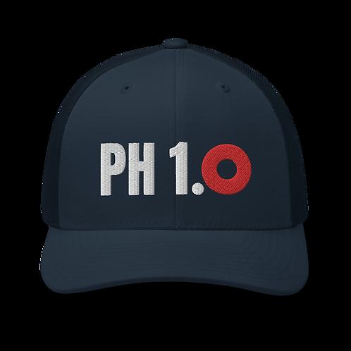 Phish 1.0 Red Donut Trucker Cap   Flat Embroidery   Phish Inspired Art