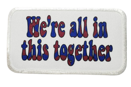 We're All In The Together Red Donut Printed Patch