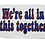Thumbnail: We're All In The Together Red Donut Printed Patch