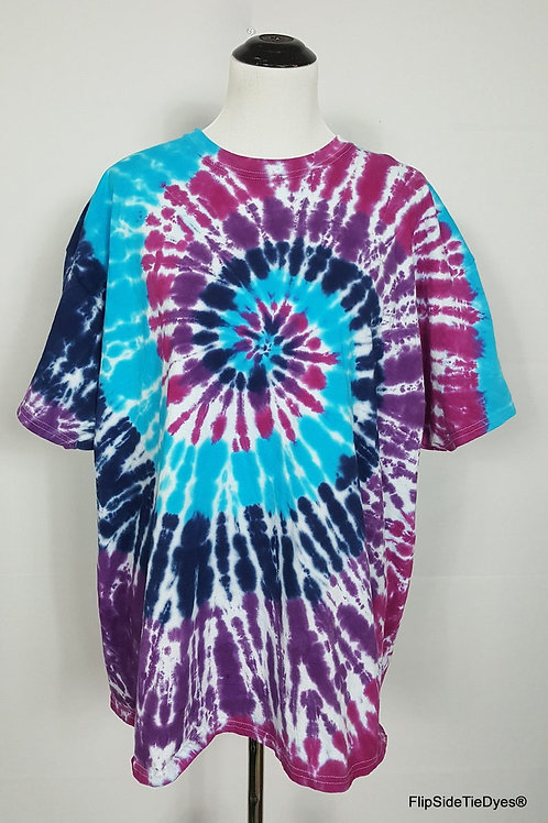 Turquoise Splendor Spiral T-Shirt   Hand Dyed Tie Dye Shirt