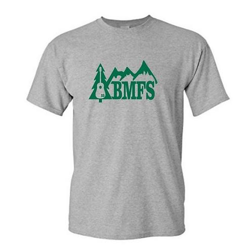 BMFS Tree & Mountains 33 Outdoors Shirt   Gildan Heavy Cotton