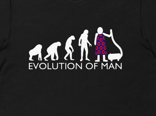 Evolution of Man Fishman   Bella + Canvas Premium cotton   Short Sleeve