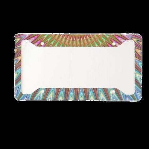 Fractal Burst Aluminum License Plate Frame