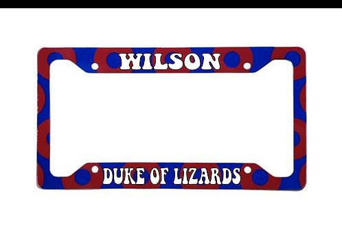 Wilson Duke Of Lizards Red Donut Aluminum License Plate Frame