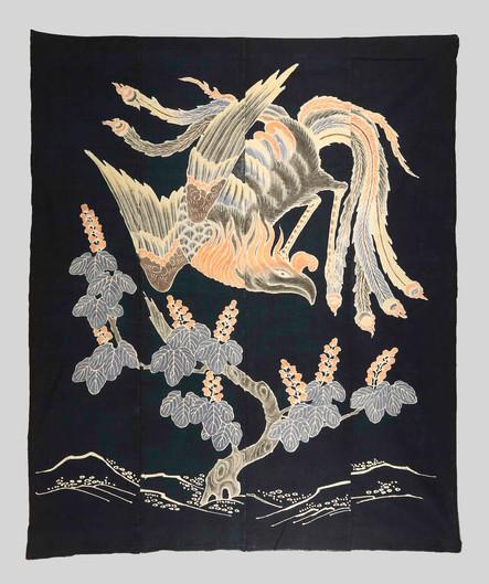 textiles (Japanese futon-ji with Phoenix)