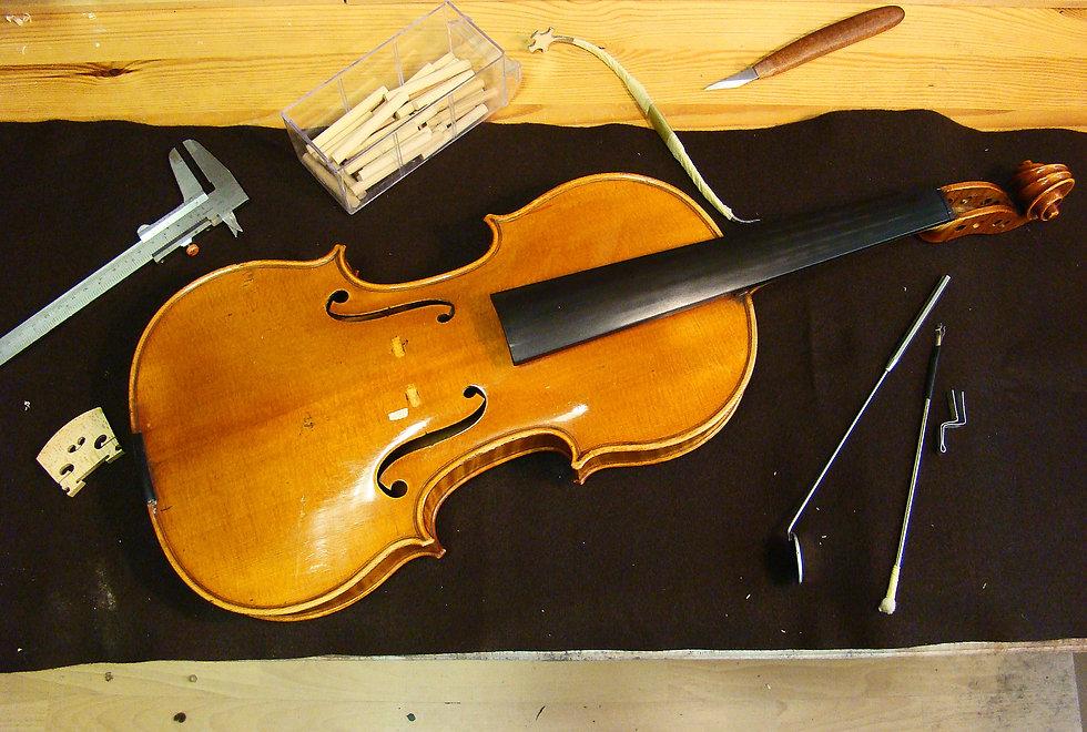 Il restauro del violino