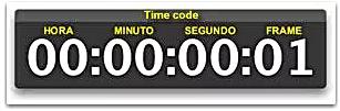 Exemplo de time code