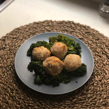 Salmon and potato croquettes