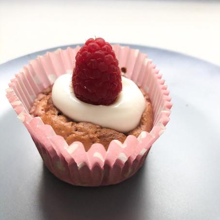Banana & Raspberry Mini Muffins