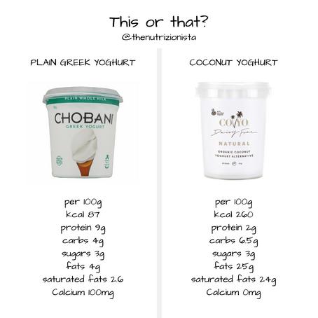 Greek Yoghurt or Coconut Yoghurt?