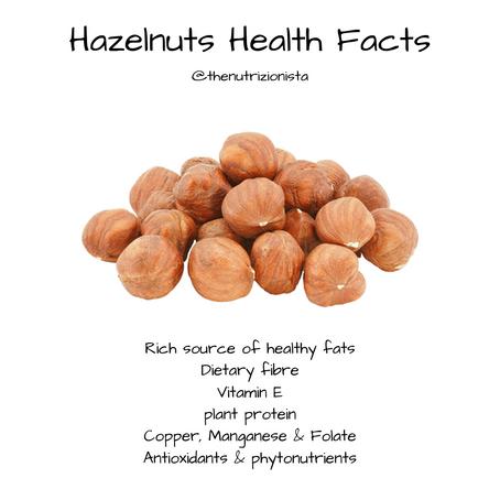 Hazelnuts Health Facts