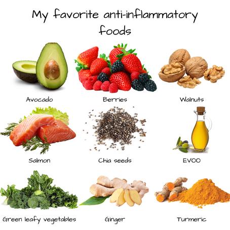 My favorite Anti-Inflammatory Foods