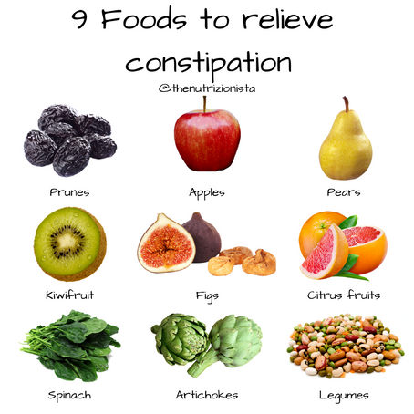 9 Foods to relieve constipation