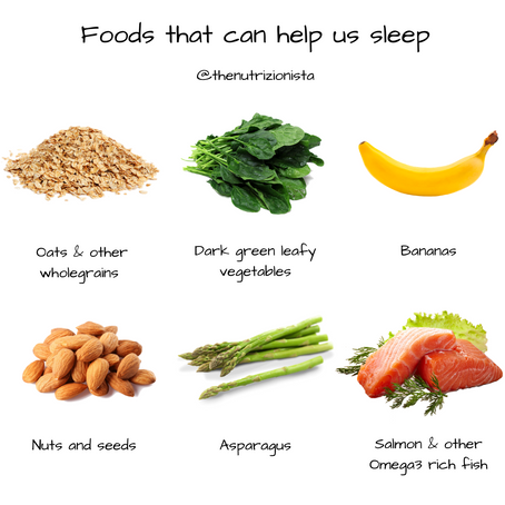 Foods that can help us sleep