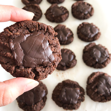 Double Chocolate Chickpea Cookies