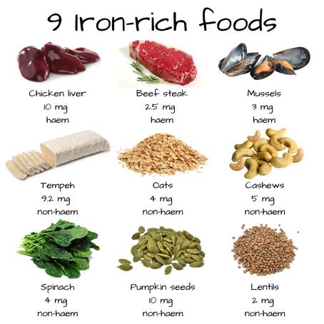 9 Iron-rich foods