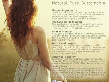ONESTA HAIR CARE - Natural, Pure, Sustainable