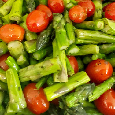 Grand's Own Asparagus & Tomato Salad
