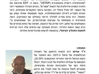 Anatomy of psychotherapy interaction, Bar Ilan University, Tel Aviv