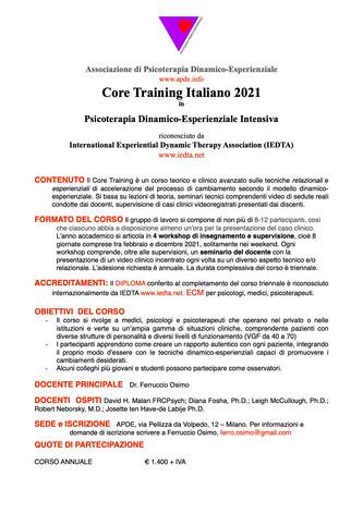 Core Training Italiano 2021 !
