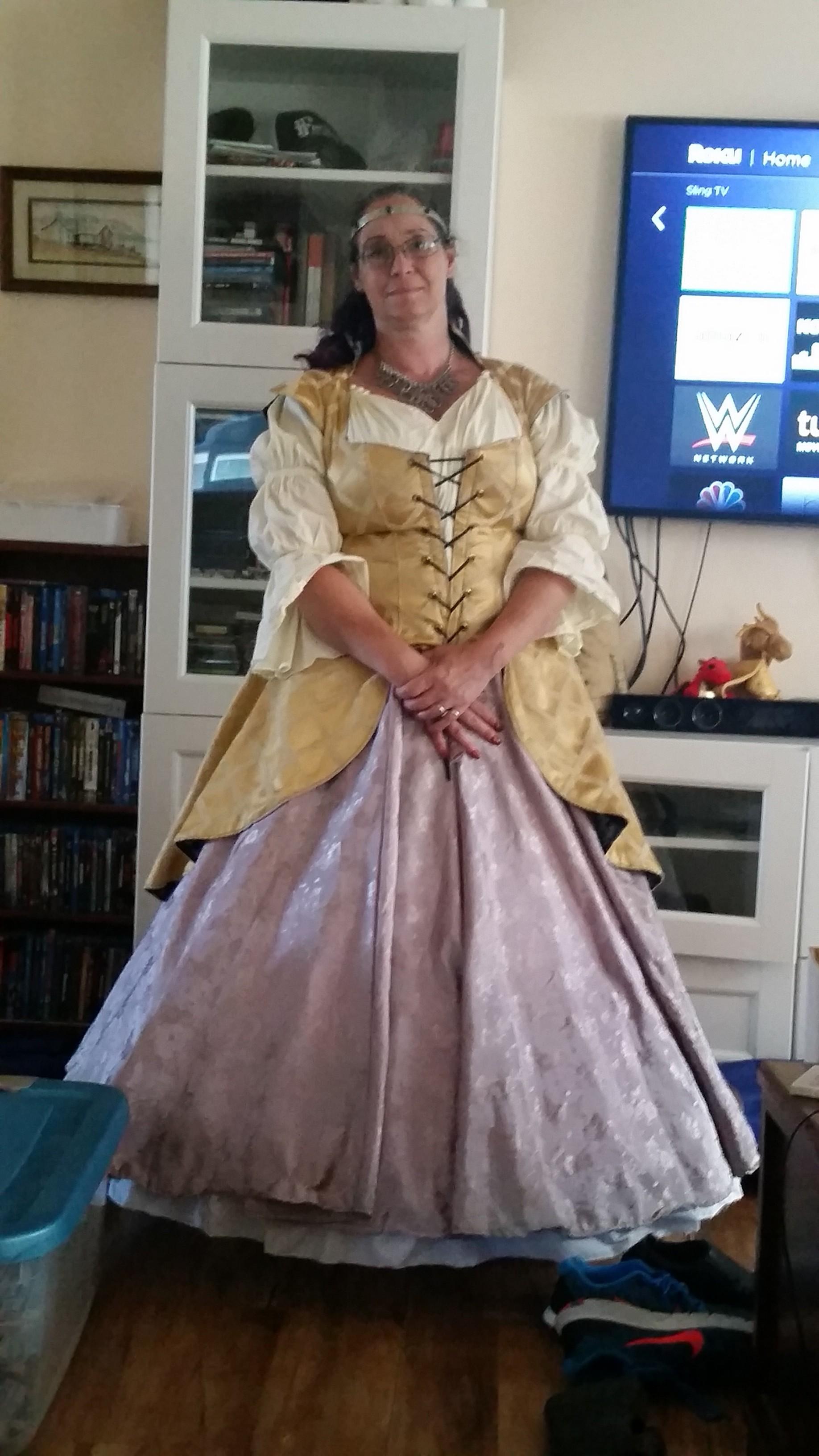 woman in ren garb