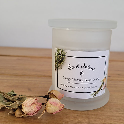 Energy Clearing Sage Candle