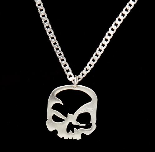 Halskette im scull-art Design mit Panzerkette