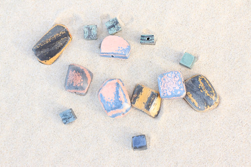 Hemp plastic beads