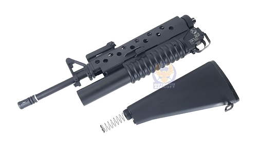 FCW M16A3 Gas Launcher Full Kit with Fixed Stock For MWS GBBR