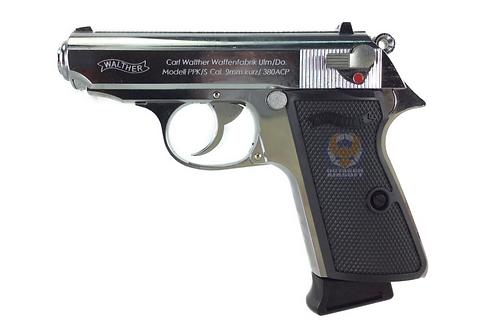 Flintlock Custom Workshop PPK/S Full Metal GBB Pistol  GBB Pistol Silver