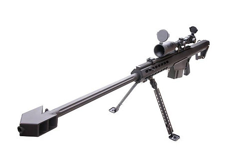 Snow Wolf M82A1 Spring Sniper Rifle with Scope (Black)