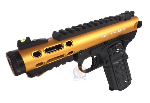 FCW x WE Galaxy 1911 GBBP Gold Slide / Black Frame with Ruger Style Marking