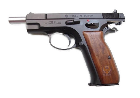 Marushin CZ 75 Blowback Shell Ejecting Airsoft Pistol (HW Real Wood Grip Version